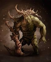 swamp creature by LozanoX