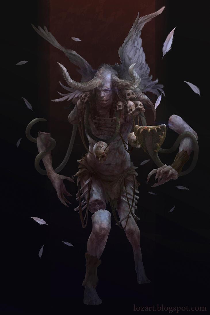 Skull Shaman by LozanoX