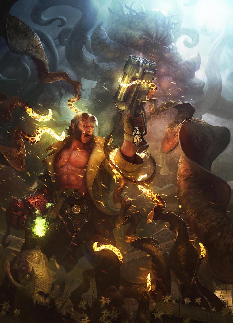 Hellboy Fan-art by LozanoX