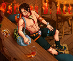 - Portgas D. Ace - by coreymill