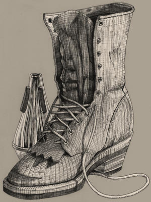 - Pen and Ink Boot - by coreymill