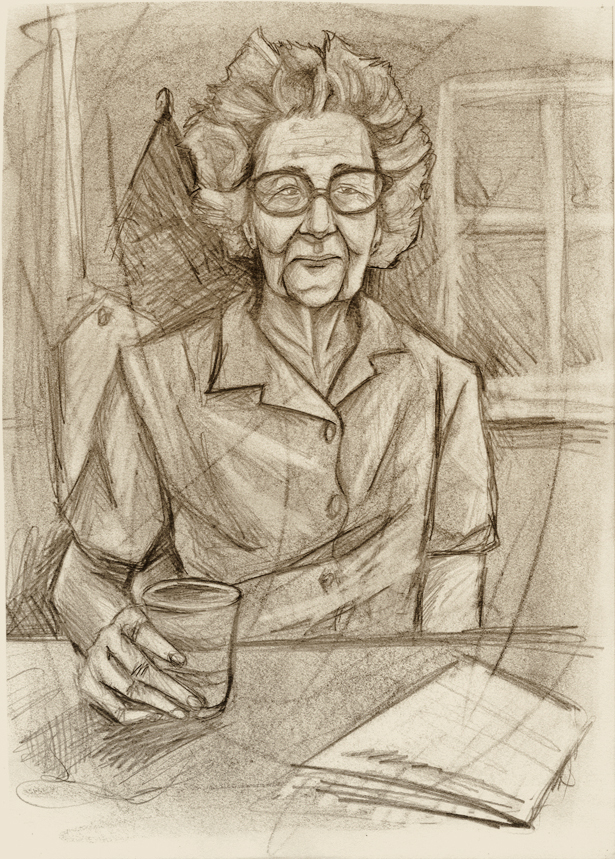 - Old Lady Sketch - by coreymill
