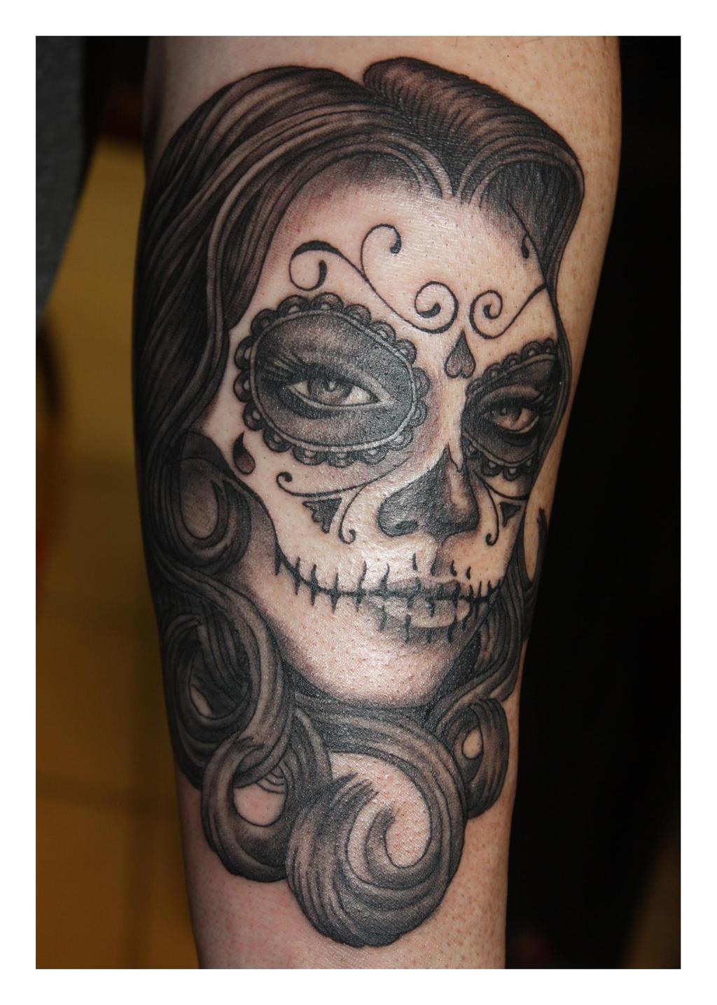 The gallery for sexy sugar skull girl for Female skull tattoos