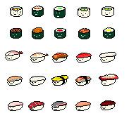 Pixel Sushi by GTRamen