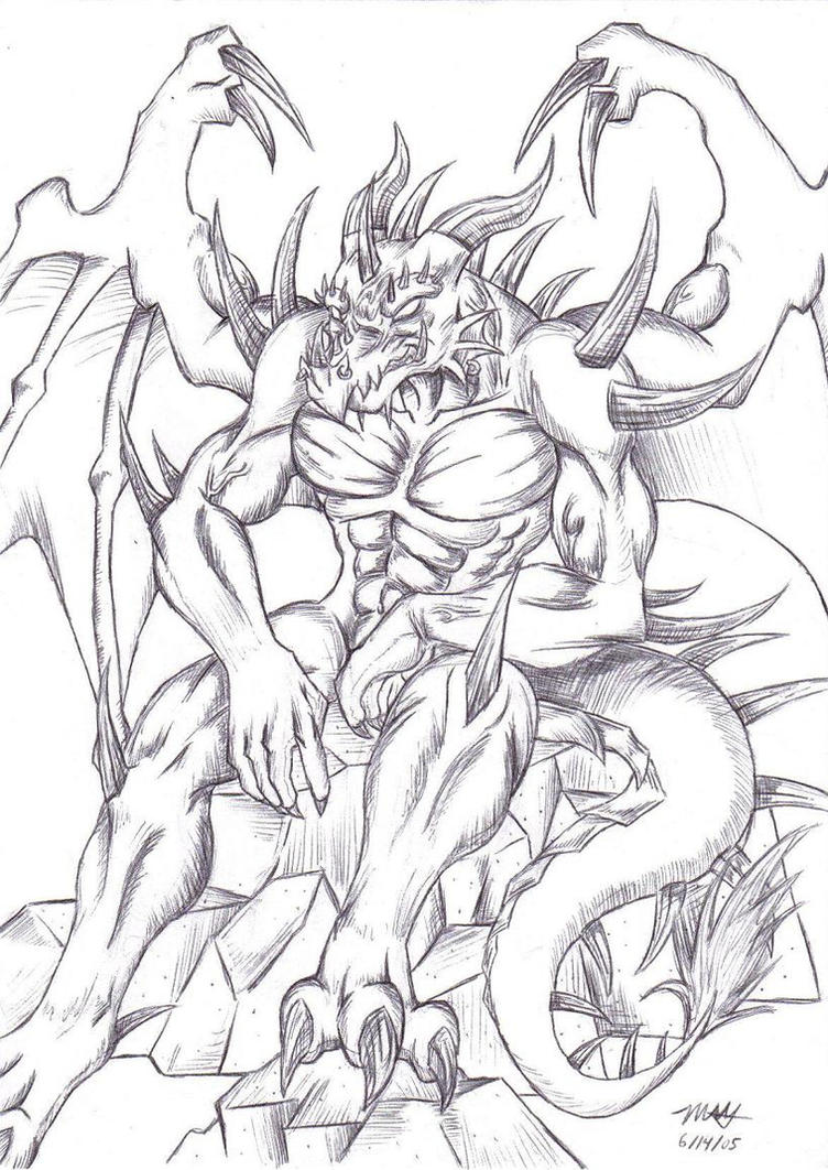 demon dragon coloring pages - photo#1