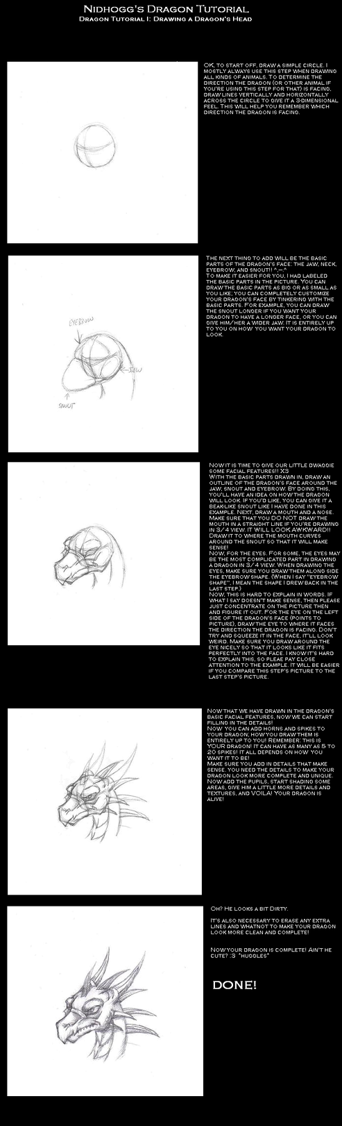 Dragon Head Tutorial by Ragnarokdragon