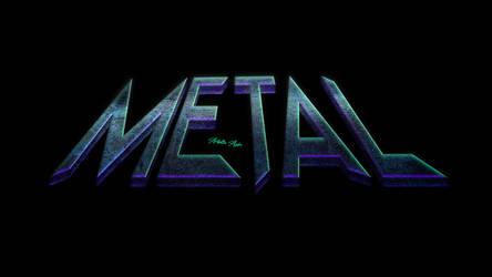 Metal 3D text design