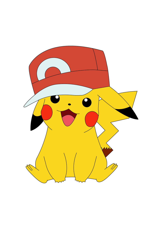 Pikachu with hat drawing - Images de pikachu ...