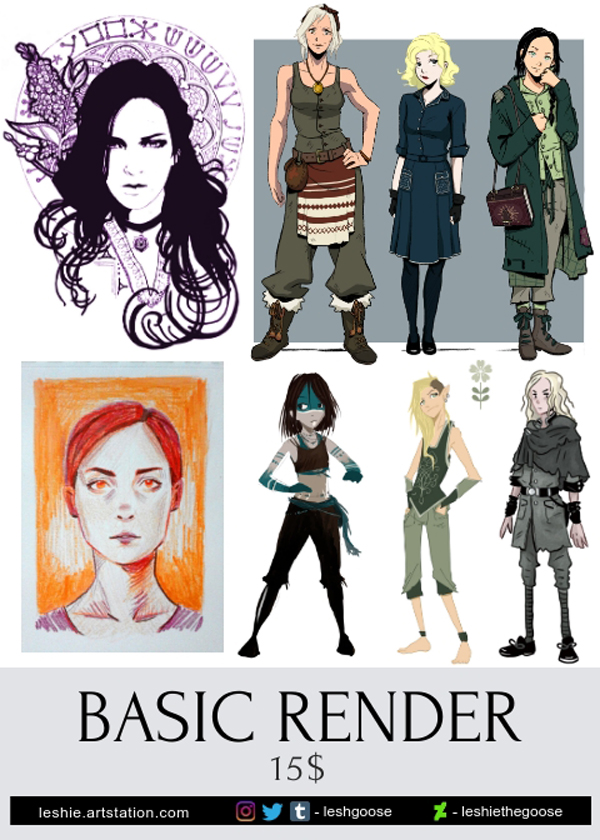 Commissions basic render 2