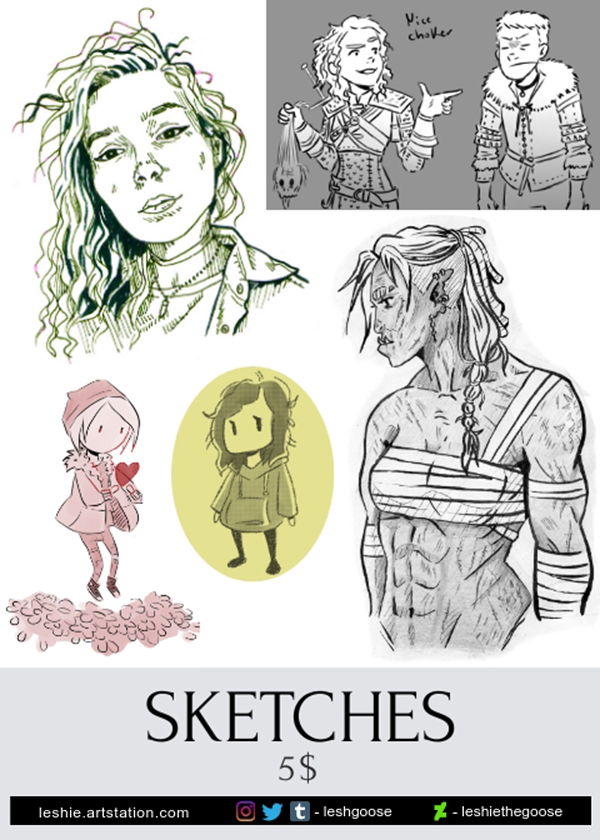 Commissions sketches 2