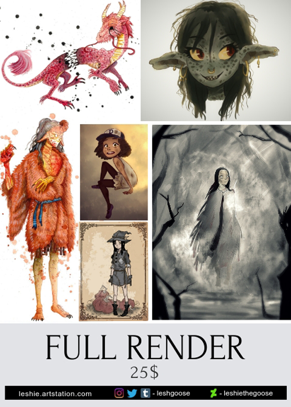 Commissions full render 2