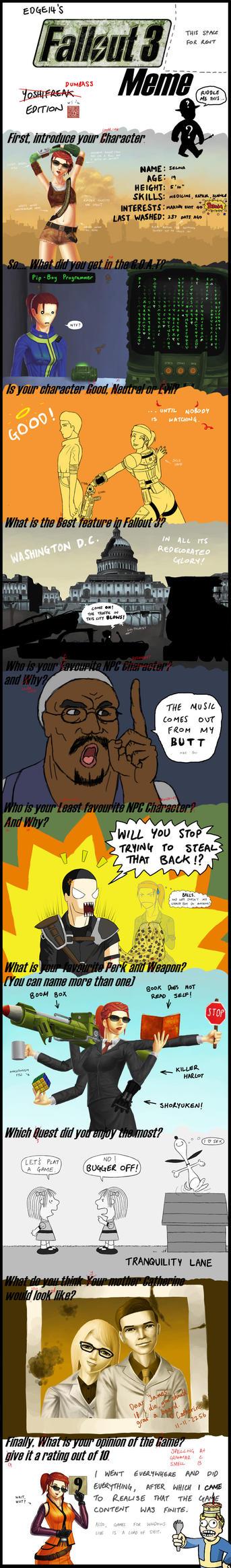 Fallout 3 Meme by yoshifreak