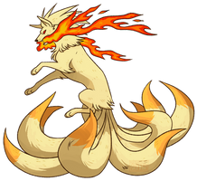 Ninetails by Skdaffle