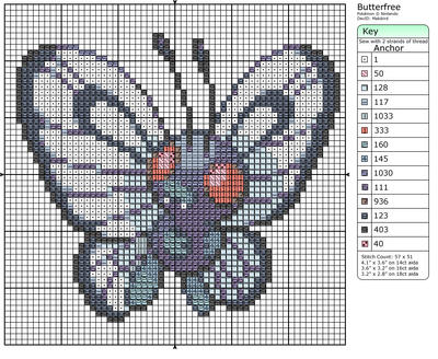12 - Butterfree by Makibird-Stitching