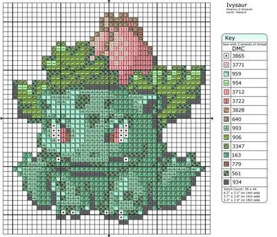 2 - Ivysaur by Makibird-Stitching