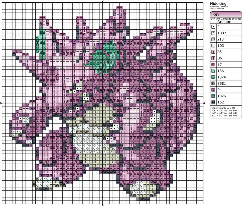 34 - Nidoking by Makibird-Stitching on DeviantArt