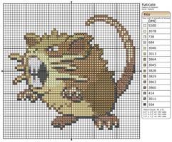 20 - Raticate by Makibird-Stitching