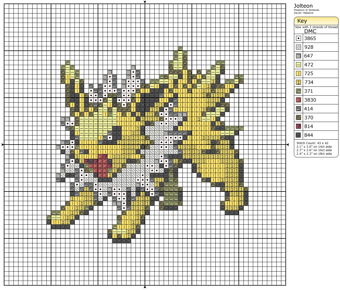 135 - Jolteon by Makibird-Stitching