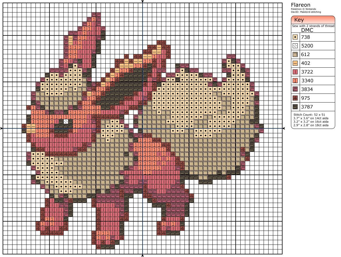 136 - Flareon by Makibird-Stitching
