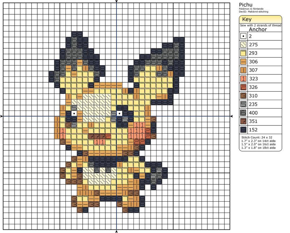 Kawaii Pixel Art Grid For Pinterest