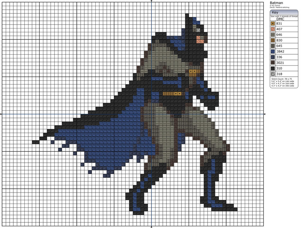 Batman I by Makibird-Stitching