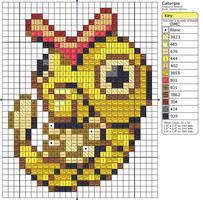 10 - Caterpie - Shiny by Makibird-Stitching