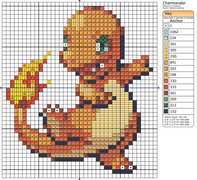 4 - Charmander II by Makibird-Stitching