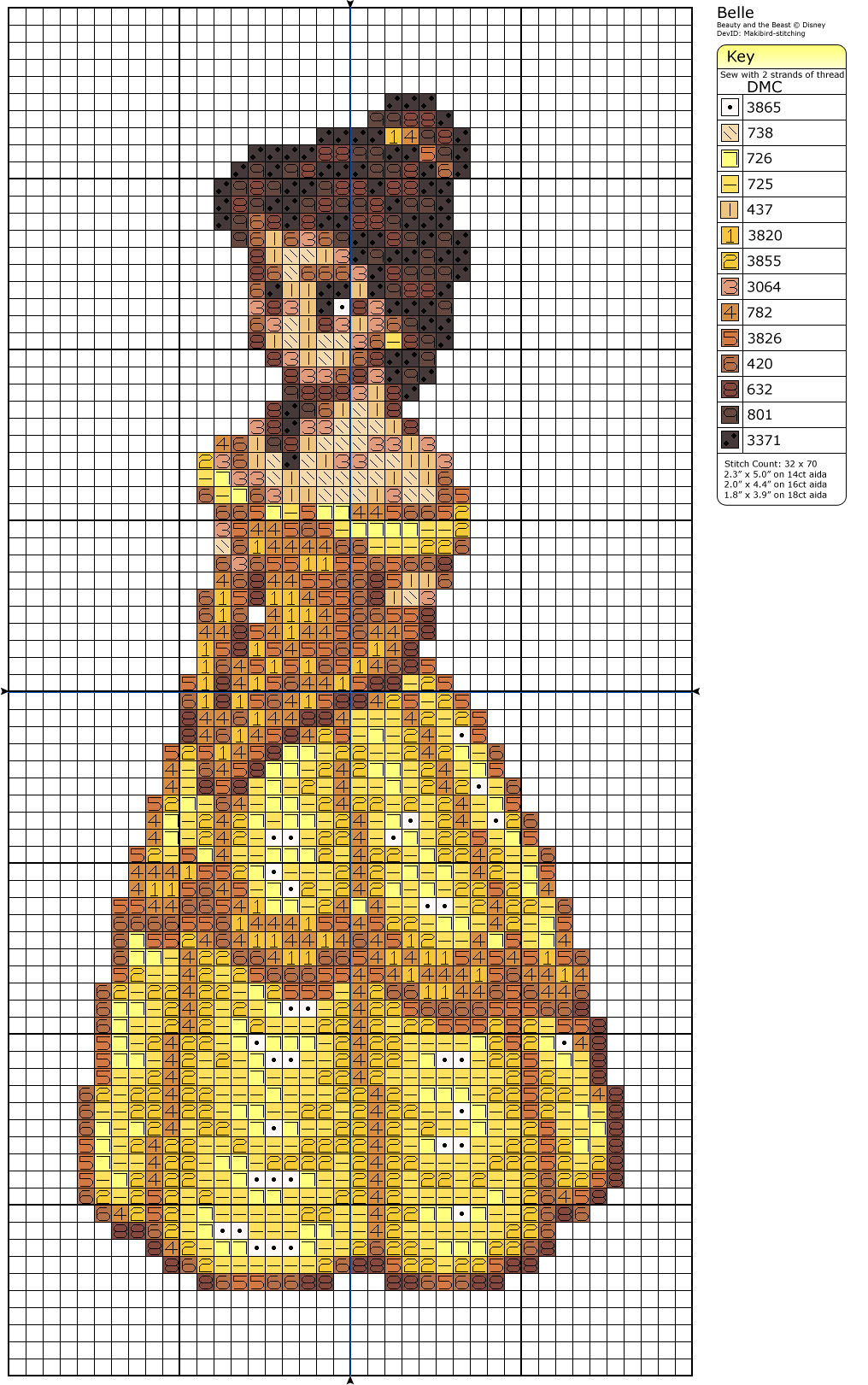 Belle by Makibird-Stitching