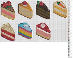 Cakes by Makibird-Stitching