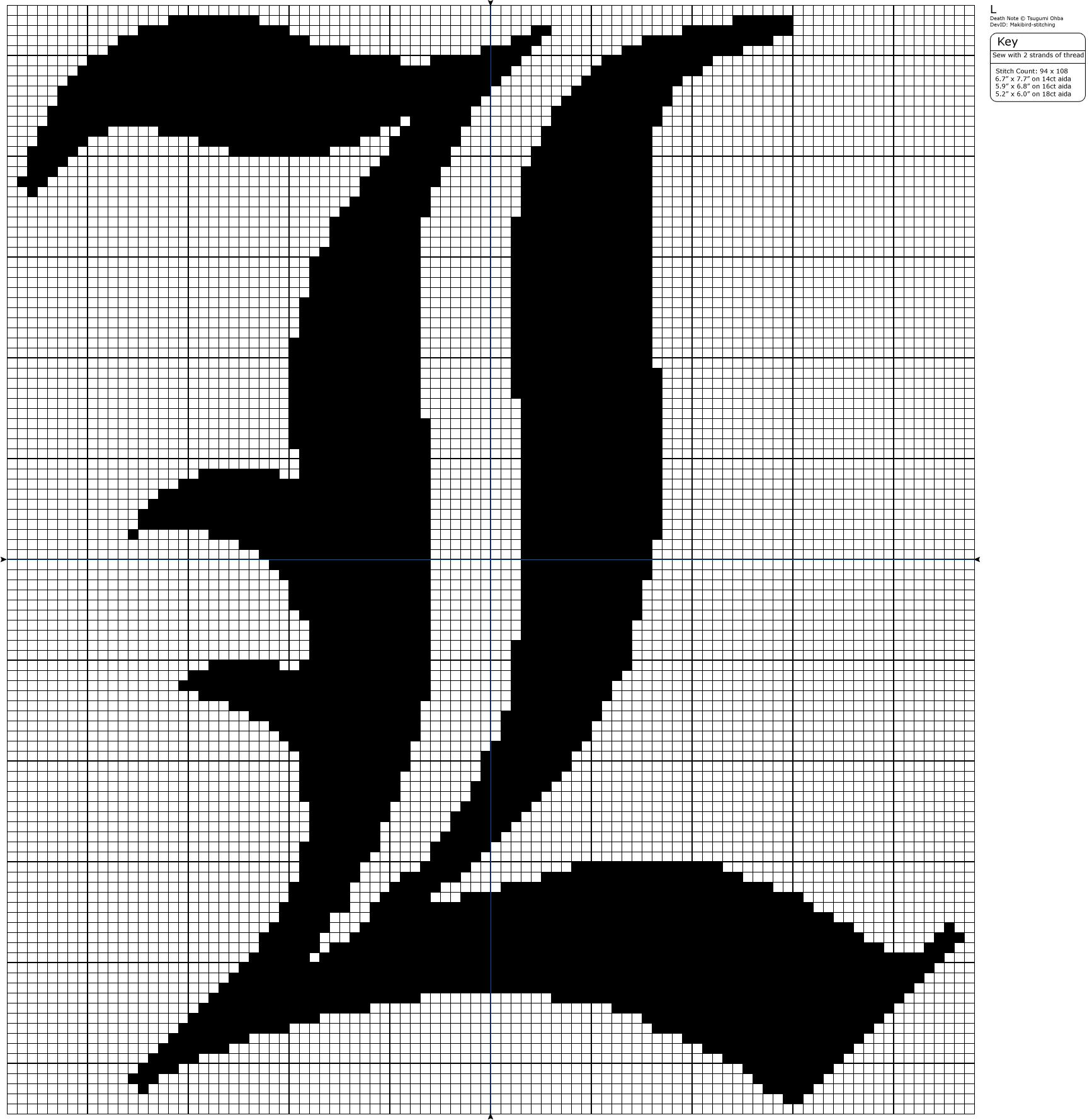 Death Note - L by Makibird-Stitching