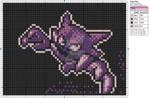 Pokemon - Haunter by Makibird-Stitching
