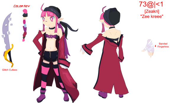 Tome Game OC - Zeakri Character Ref PNG