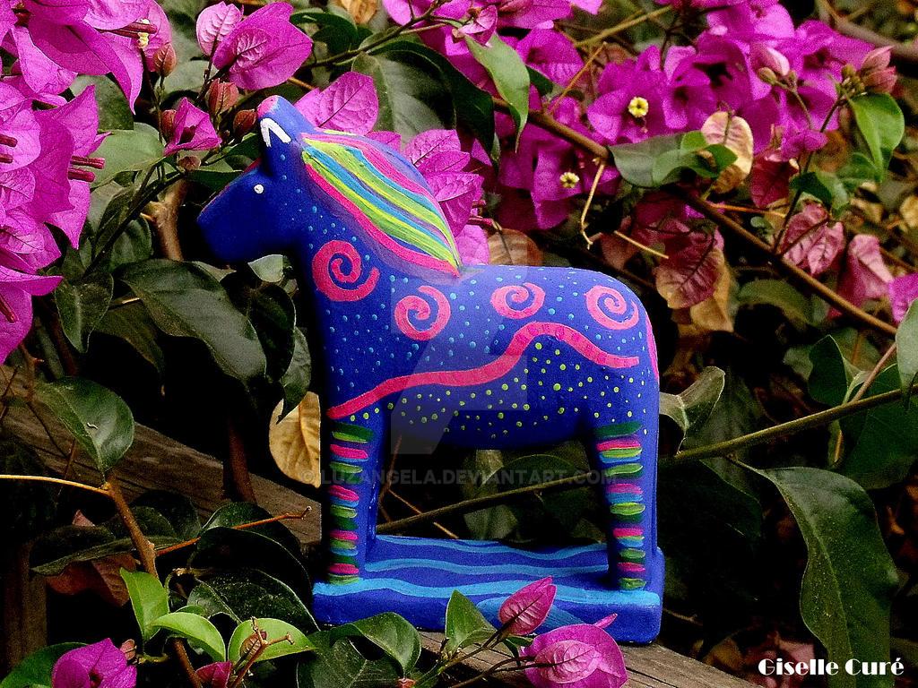 Caballito azul by LuzAngela