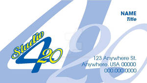 Business Card for Studio 420