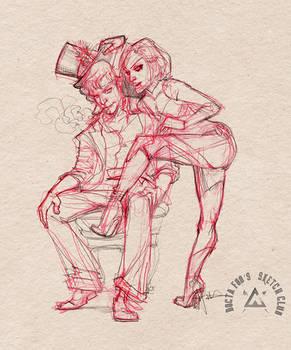 Emma Frost Vs Jack Frost ( sketch )