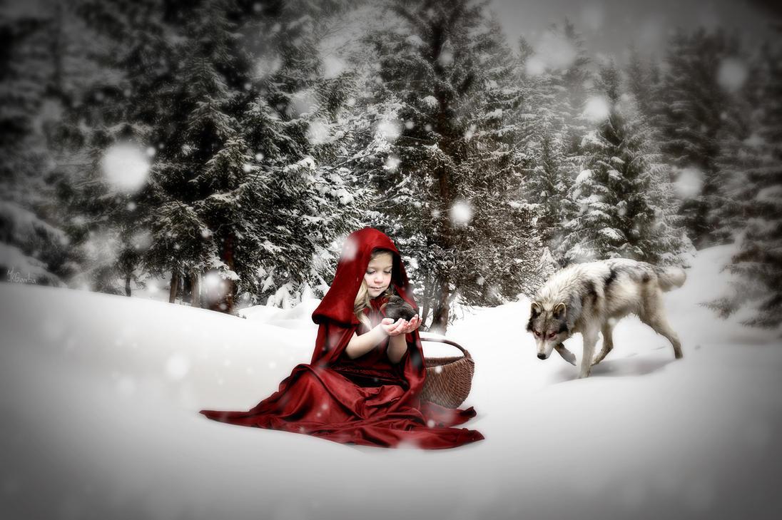 Innocent Red Riding Hood by JKGamba