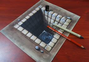 Brick hole 3D by MiltonCesar