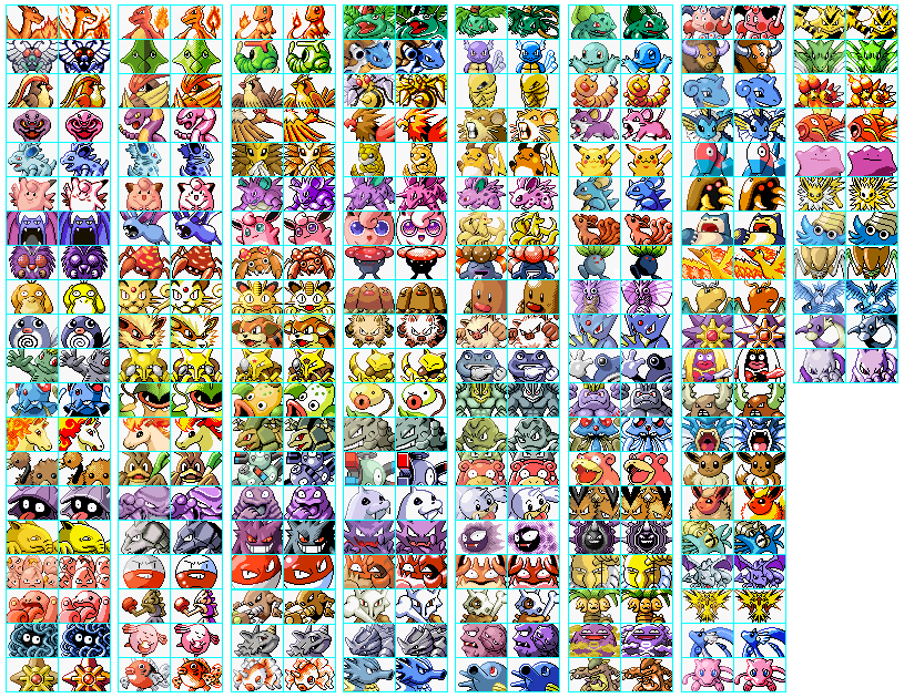 Pokemon Finball All Pokemons Recolour By Yammireckorrd On