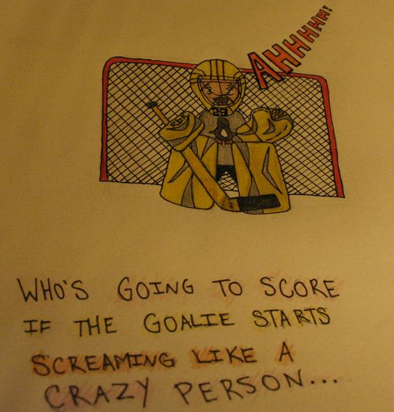 Screaming Goalie by morphinetears36