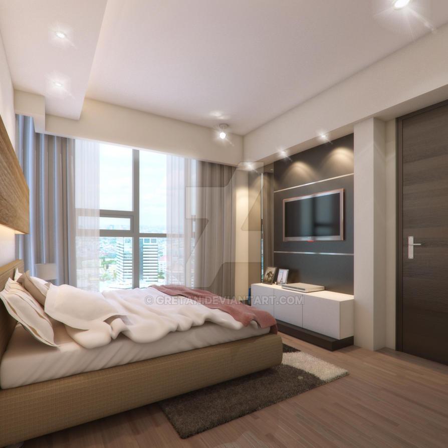 Master Bedroom st. moritz apt by gretan