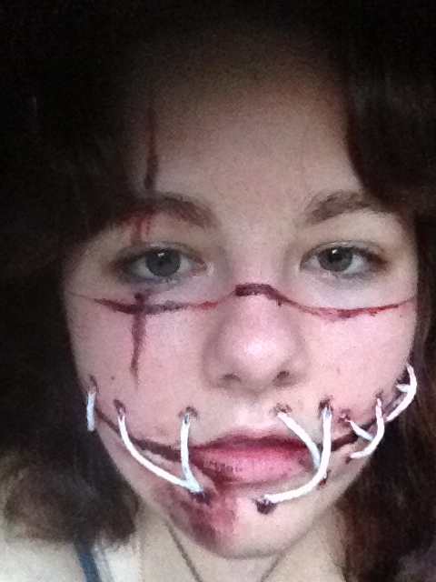 Face Paint Stitched Mouth