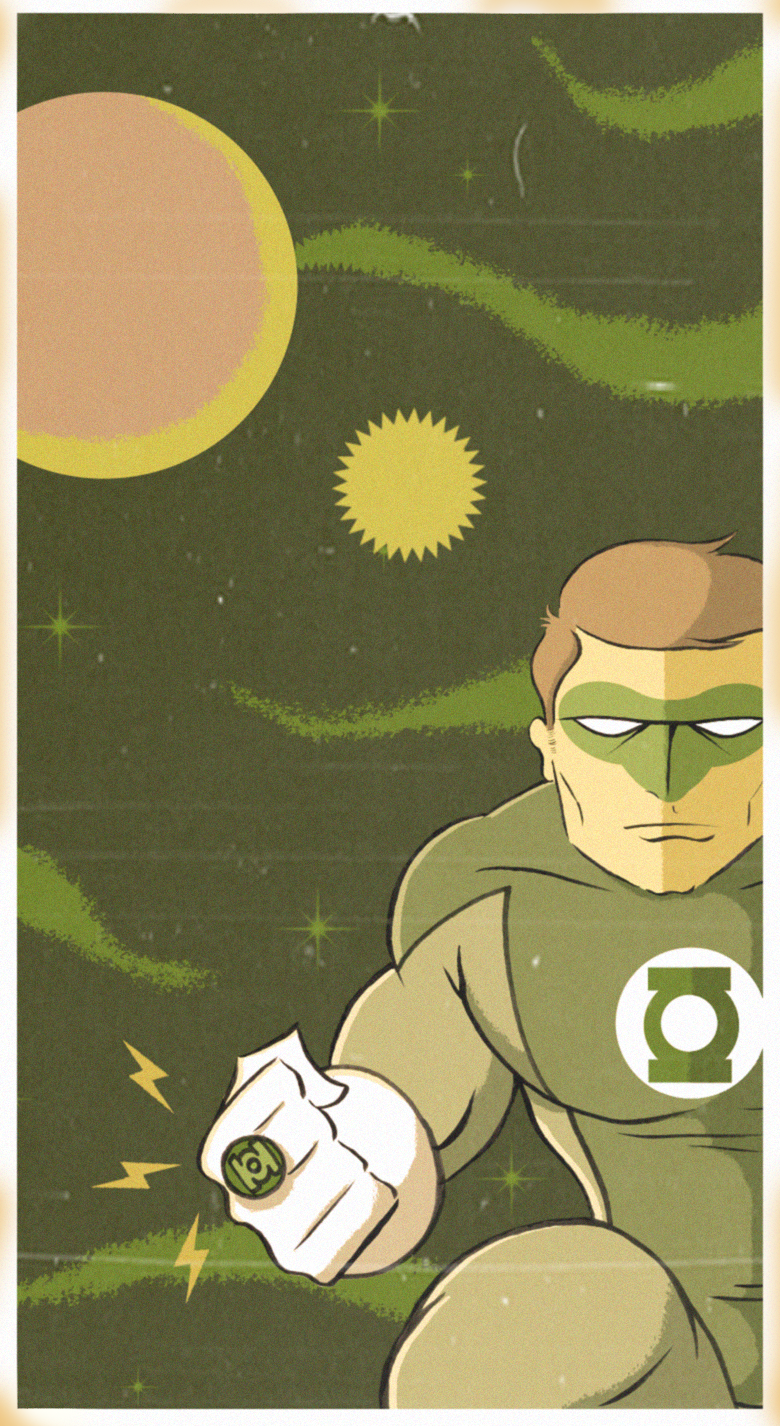 green lantern poptage style by paintmarvels