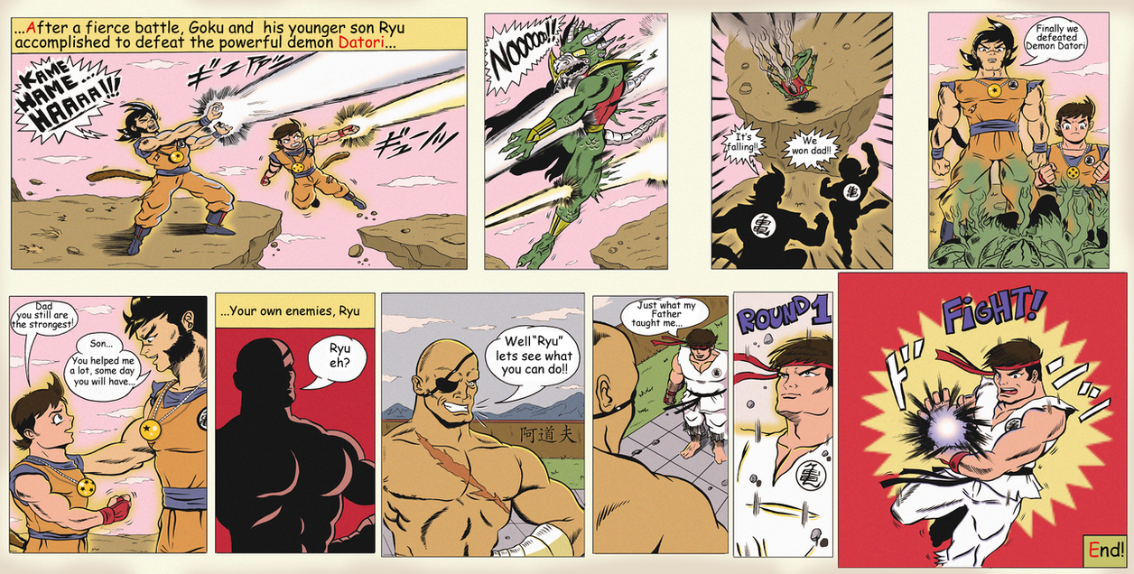 MY DRAGONBALL DREAM IN ENGLISH by paintmarvels