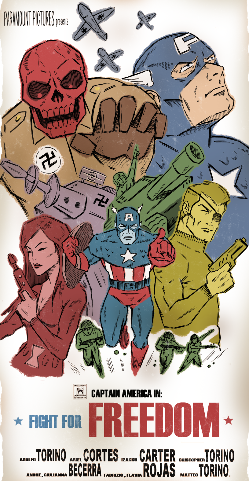 FIGHT FOR FREEDOM by paintmarvels