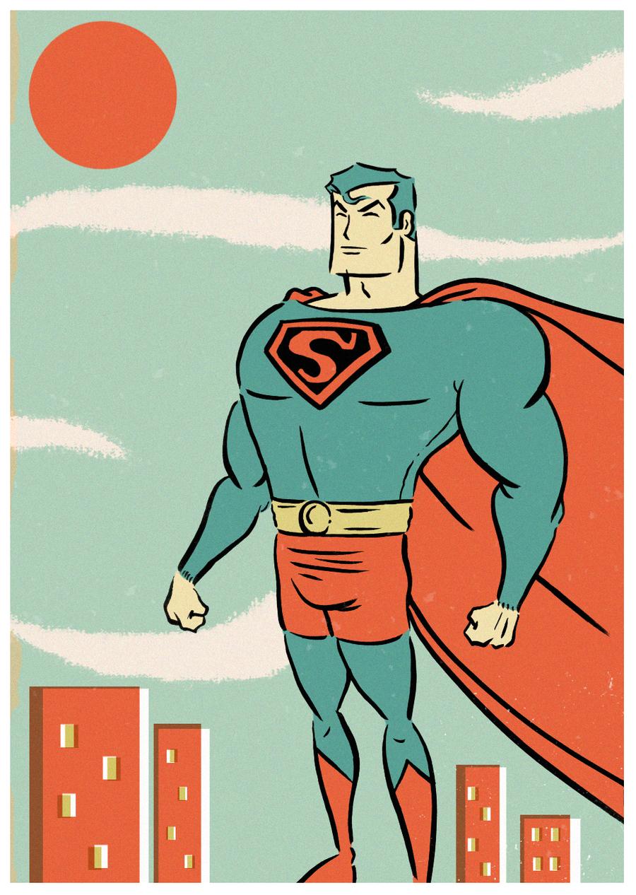 SUPERMAN GOES POPTAGE by paintmarvels