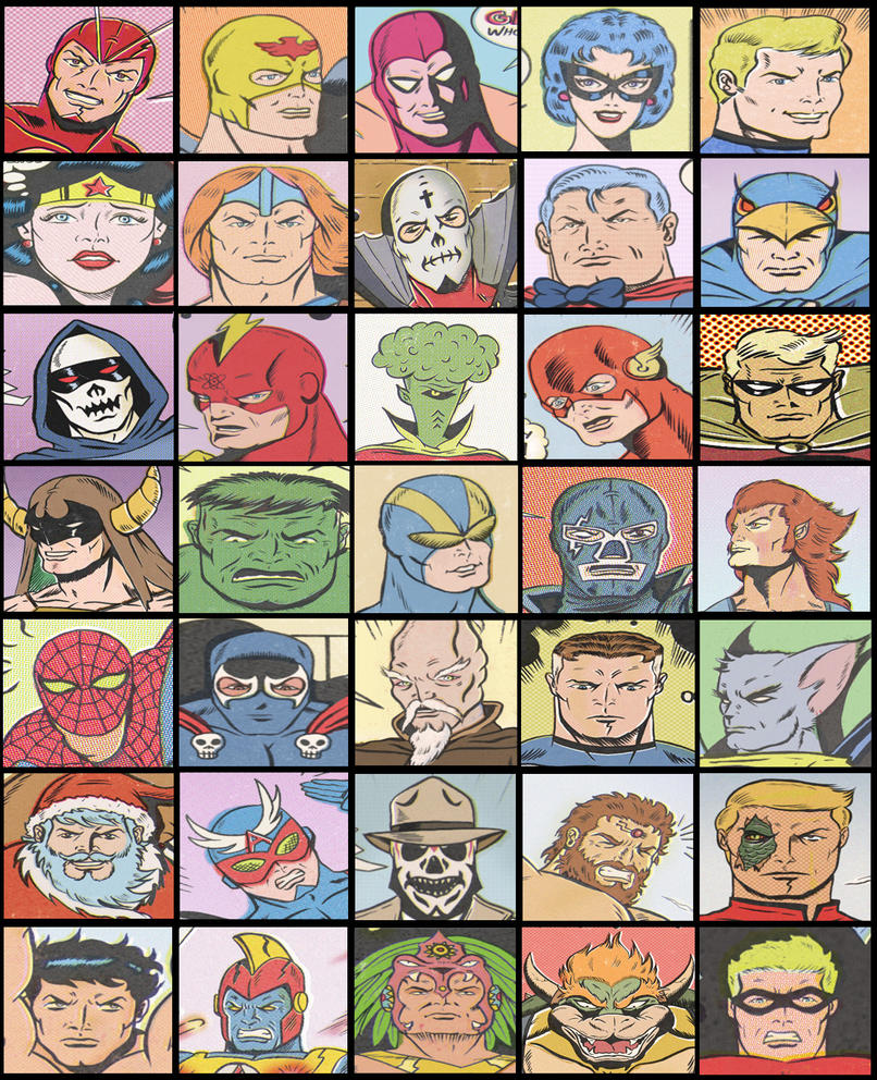HERO FACES by paintmarvels