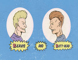 BEAVIS AND BUTTHEAD by paintmarvels