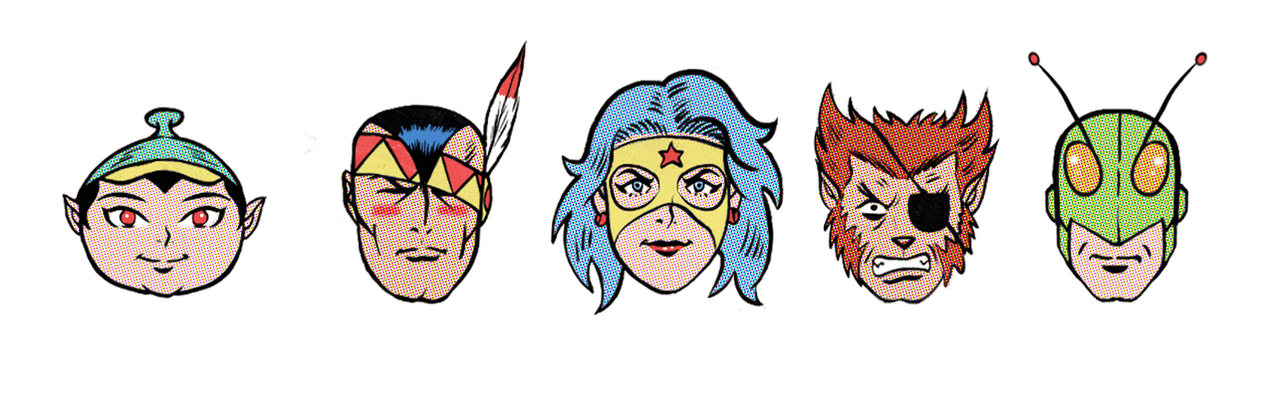 Tori Spaceson faces by paintmarvels