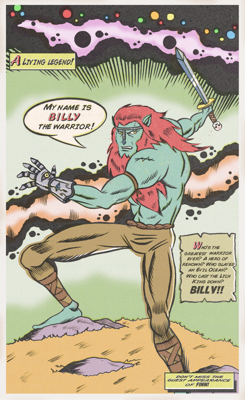 BILLY THE WARRIOR by paintmarvels