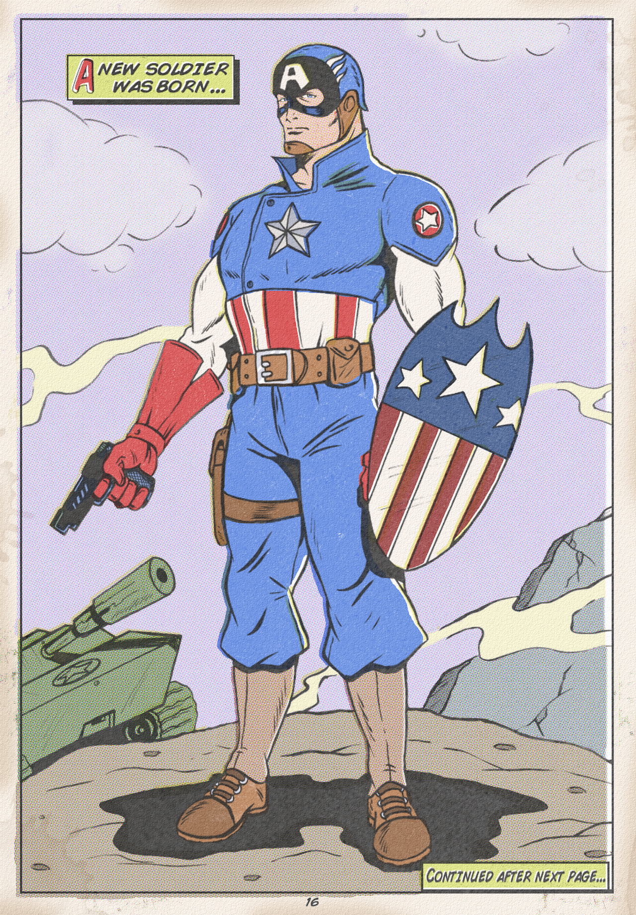 MY OWN DESIGN OF CAPTAIN AMERICA by paintmarvels